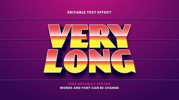 Efeito de texto editável muito longo em estilo 3d moderno
