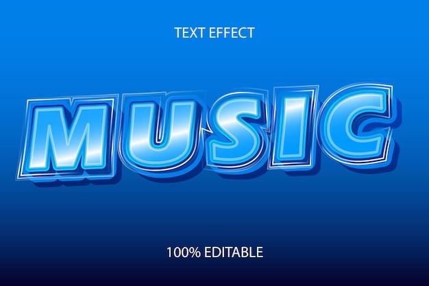 Efeito de texto editável music color blue