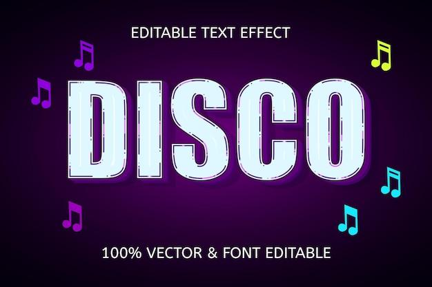 Efeito de texto editável na cor disco roxo e branco