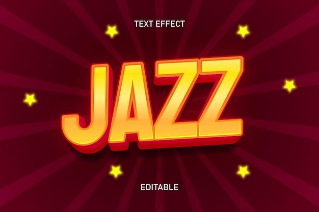 Efeito de texto editável na cor jazz vermelha