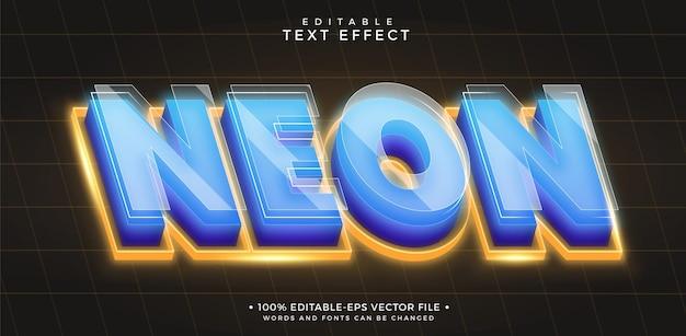 Efeito de texto editável neon
