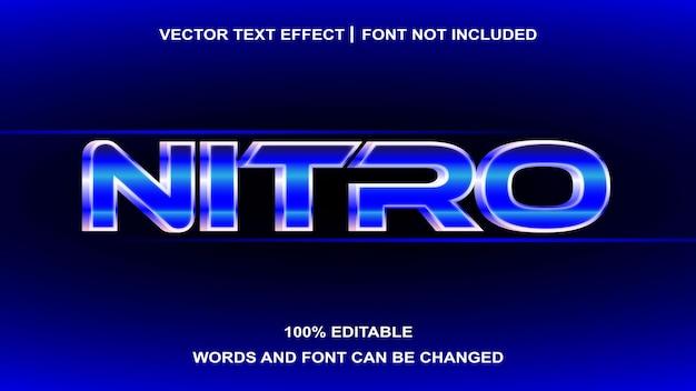 Efeito de texto editável nitro estilo