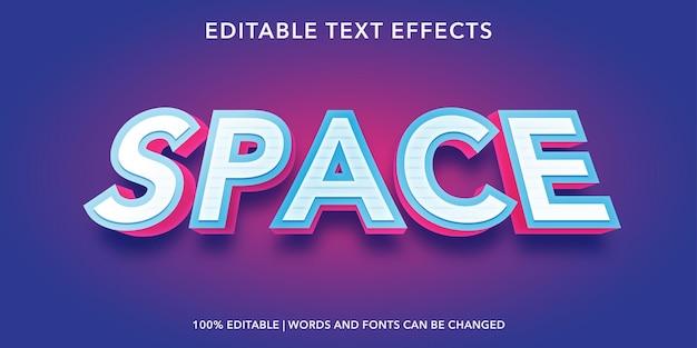 Efeito de texto editável no espaço