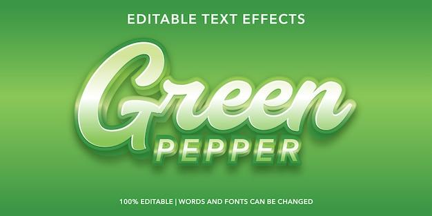 Efeito de texto editável no estilo 3d verde