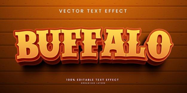 Efeito de texto editável no estilo buffalo