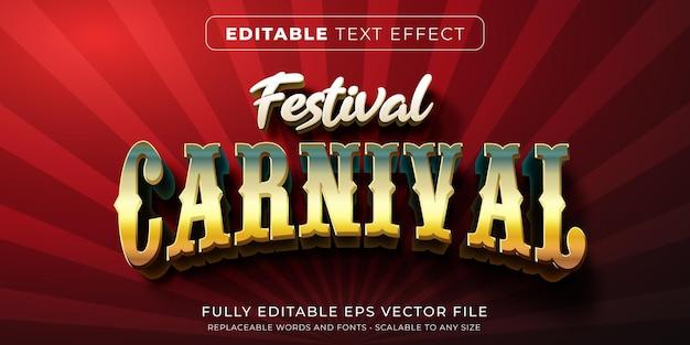 Efeito de texto editável no estilo carnaval