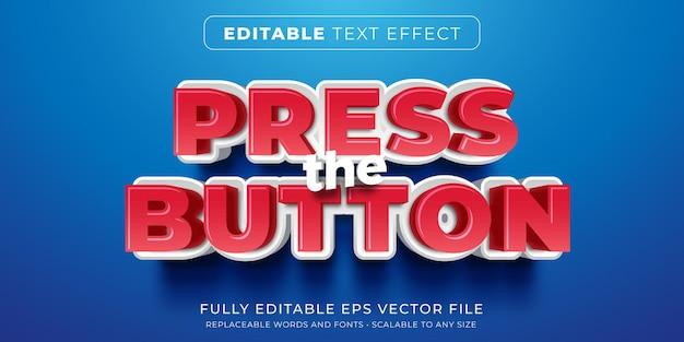 Efeito de texto editável no estilo de botão de pressão