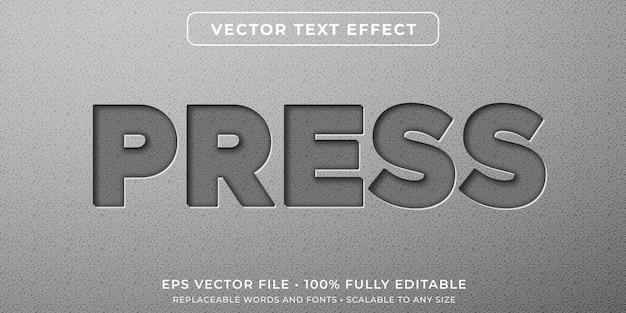 Efeito de texto editável no estilo de caracteres incorporados