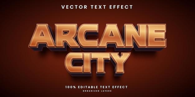 Efeito de texto editável no estilo de cidade arcana