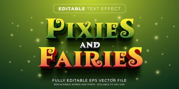 Efeito de texto editável no estilo de conto de fadas
