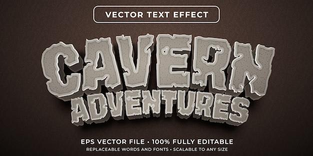 Efeito de texto editável no estilo de pedra da caverna