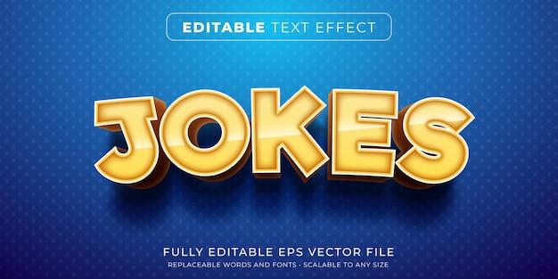 Efeito de texto editável no estilo de piadas de desenho animado
