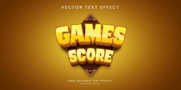 Efeito de texto editável no estilo de pontuação do jogo