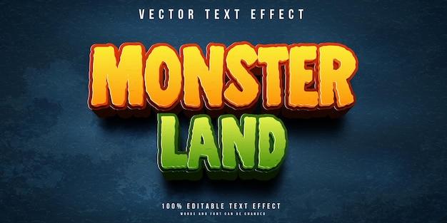 Efeito de texto editável no estilo de terreno de monstro
