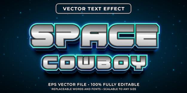 Efeito de texto editável no estilo de texto do espaço sideral