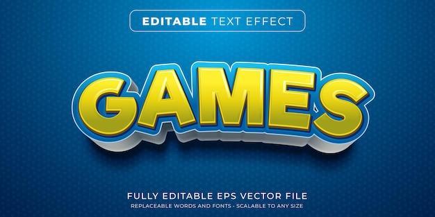 Efeito de texto editável no estilo de título de jogo de desenho animado