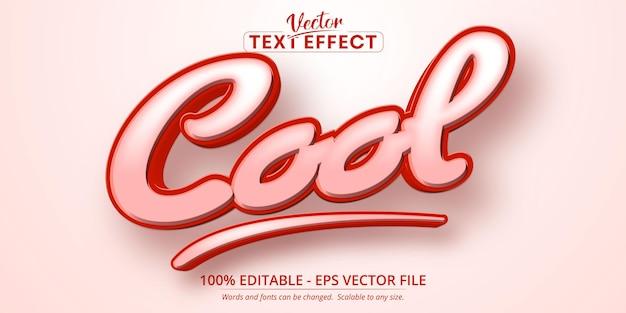 Efeito de texto editável no estilo desenho animado legal