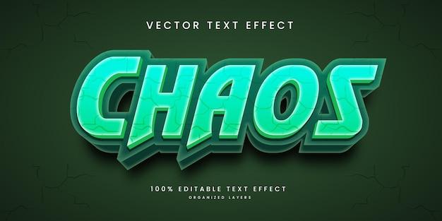 Efeito de texto editável no estilo do caos