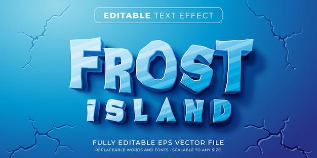 Efeito de texto editável no estilo gelo congelado