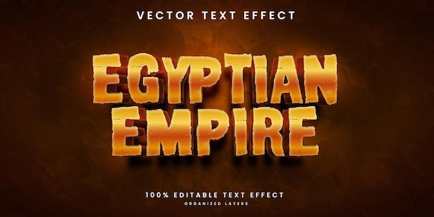 Efeito de texto editável no estilo império egípcio