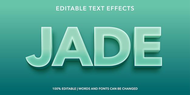Efeito de texto editável no estilo jade 3d