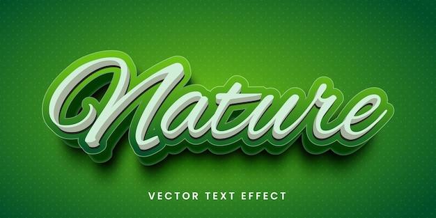 Efeito de texto editável no estilo natural