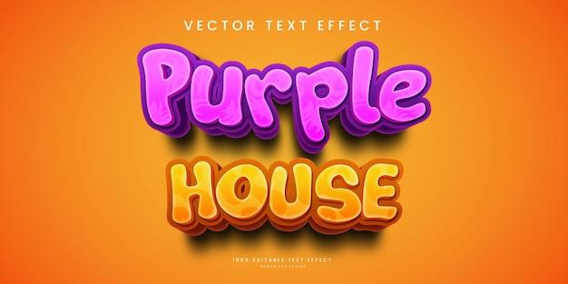 Efeito de texto editável no estilo purple house