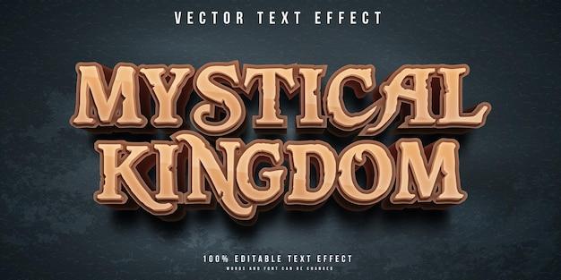 Efeito de texto editável no estilo reino místico
