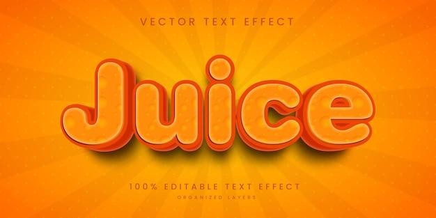 Efeito de texto editável no estilo suco