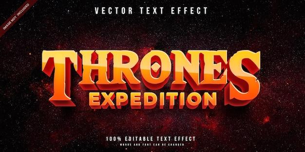 Efeito de texto editável no estilo tronos