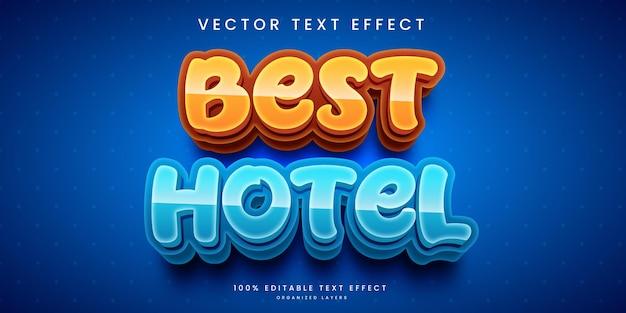 Efeito de texto editável no melhor estilo de hotel
