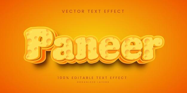 Efeito de texto editável no paineler