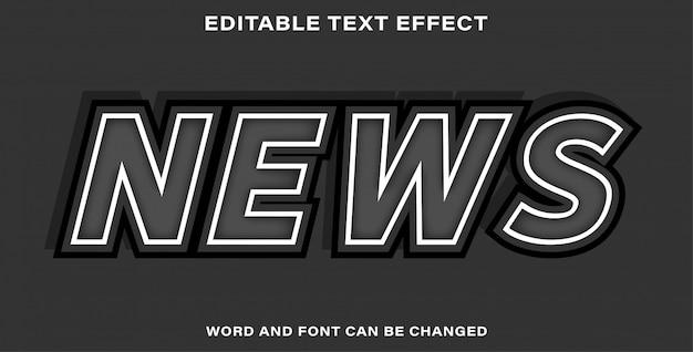 Efeito de texto editável - notícias