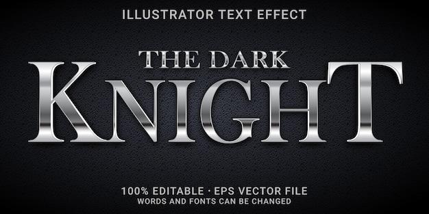 Efeito de texto editável - o estilo cavaleiro das trevas