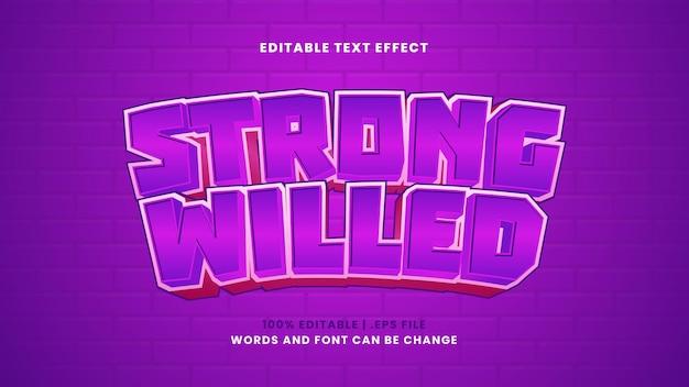 Efeito de texto editável obstinado em estilo 3d moderno