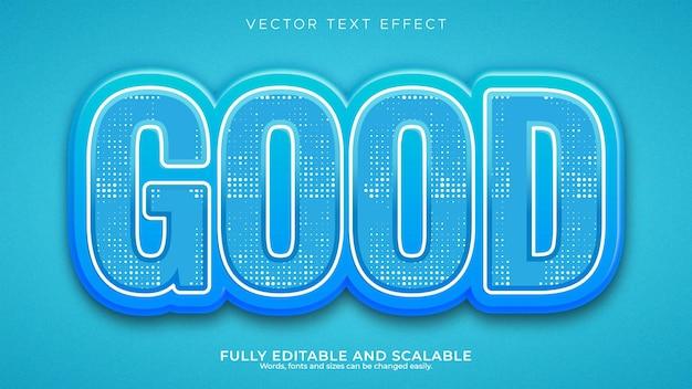 Efeito de texto editável ocean blue 3d