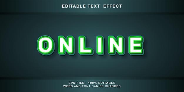 Efeito de texto editável online