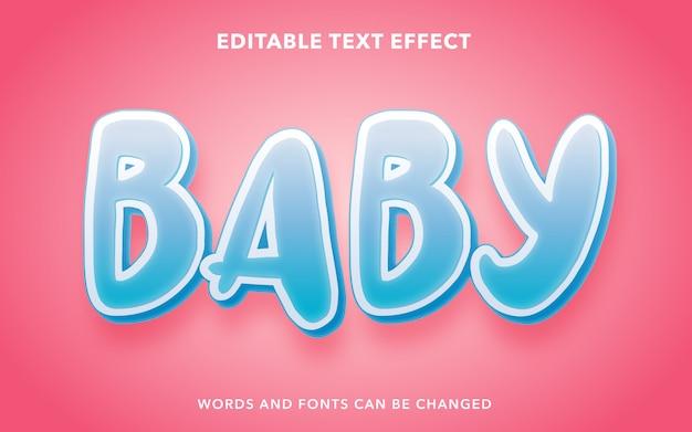 Efeito de texto editável para bebê