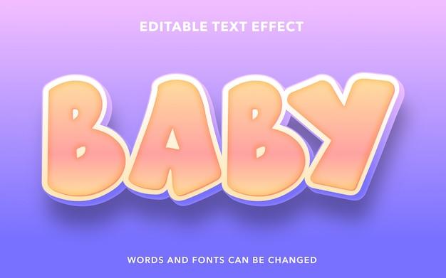 Efeito de texto editável para bebês