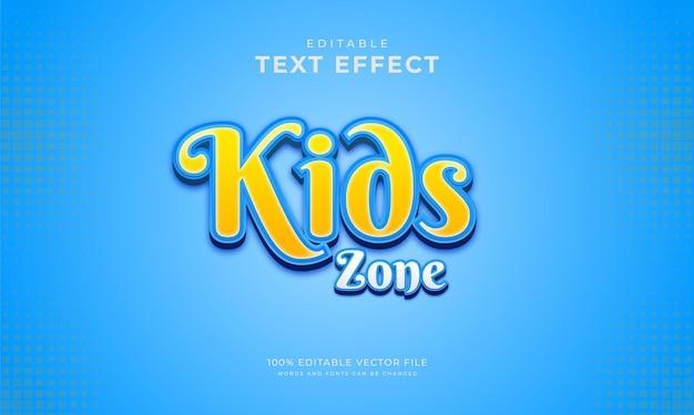Efeito de texto editável para crianças, estilo agradável