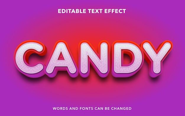 Efeito de texto editável para doces