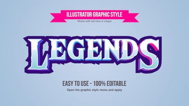 Efeito de texto editável para jogos de prata modernos com chanfro 3d colorido