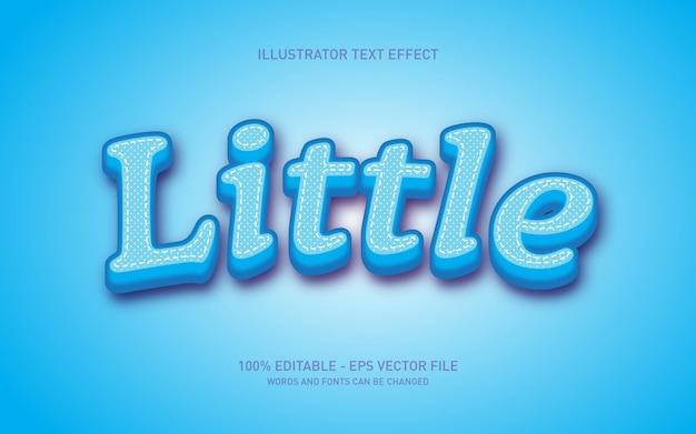 Efeito de texto editável, pequenas ilustrações de estilo