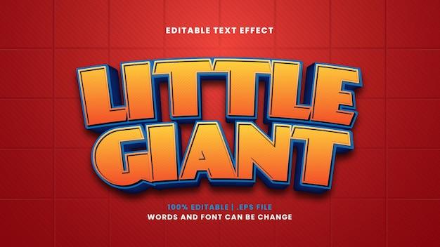 Efeito de texto editável pequeno gigante em estilo 3d moderno