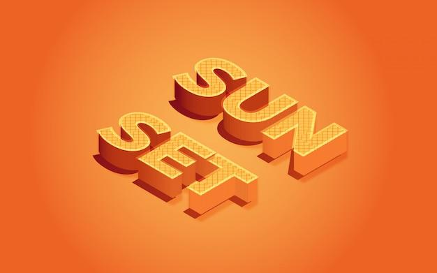 Efeito de texto editável por do sol