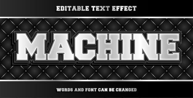 Efeito de texto editável por máquina