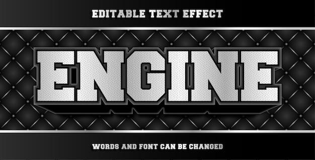 Efeito de texto editável por mecanismo