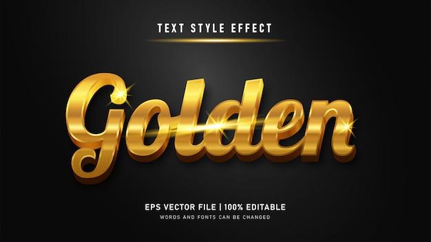 Efeito de texto editável premium gold style