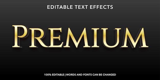Efeito de texto editável premium