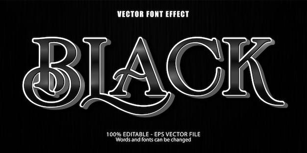 Efeito de texto editável preto